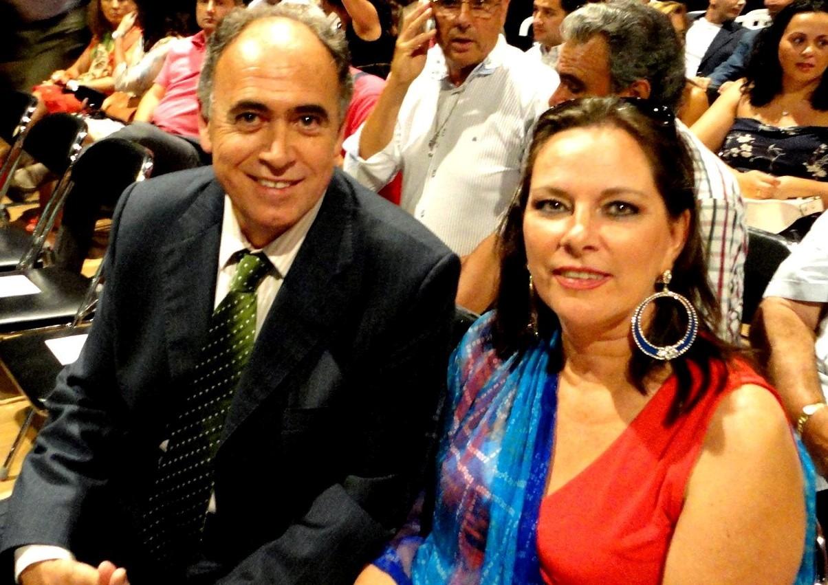 Premio Nacional a la Promoción del Flamenco 2012 Antonio en Ana bij uitreiking