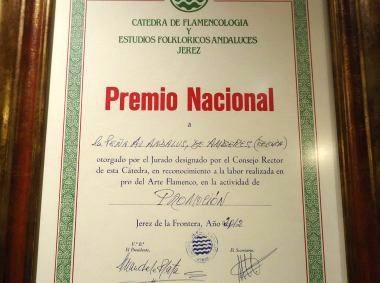 Premio Nacional a la Promoción del Flamenco 2012